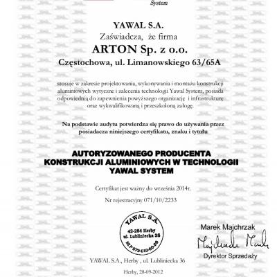 Autoryzacja Arton